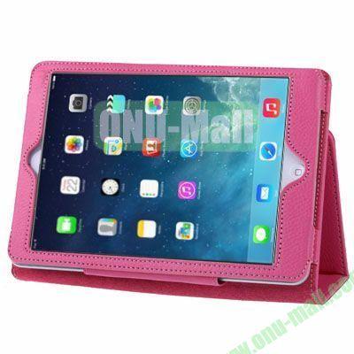 Litchi Texture Leather Case with Holder for iPad Mini RetinaiPad Mini 3 (Rose)