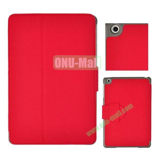 Grid Texture Leather Case Cover for iPad MiniMini RetinaiPad Mini 3 with Holder (Red)