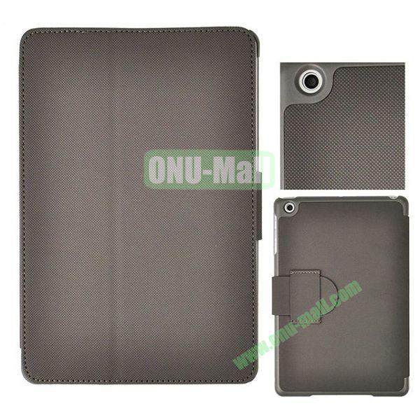 Grid Texture Leather Case Cover for iPad MiniMini RetinaiPad Mini 3 with Holder (Grey)