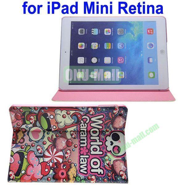 Cartoon Pattern Leather Case for iPad Mini 2Mini RetinaiPad Mini 3 with Holder