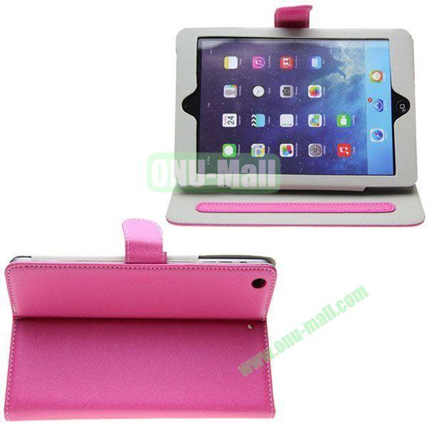 Frosted S Line Leather Case for iPad Mini 2Mini RetinaiPad Mini 3 with Card Slots (Pink)