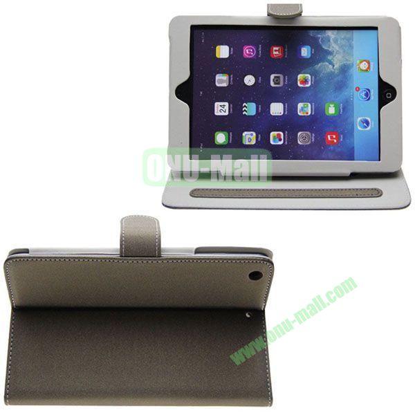Frosted S Line Leather Case for iPad Mini 2Mini RetinaiPad Mini 3 with Card Slots (Coffee)