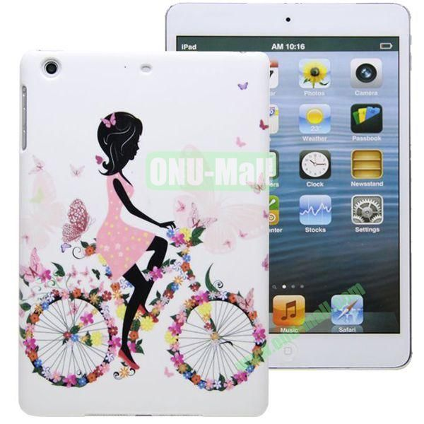 High Quality Cartoon Pattern Hard Plastic Case for iPad Mini 2  iPad Mini 3 (White)
