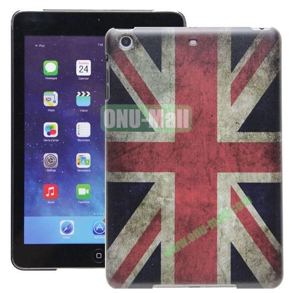High Quality Cartoon Pattern Union Jack Style Hard Plastic Case for iPad Mini 2 iPad Mini 3