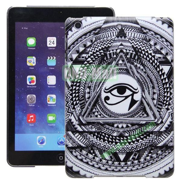 High Quality Cartoon Pattern Syaringan Design Hard Plastic Case for iPad Mini 2 iPad Mini 3