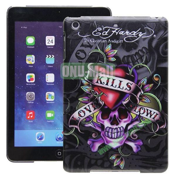 High Quality Cartoon Pattern Skull Design Hard Plastic Case for iPad Mini Retina  iPad Mini 3