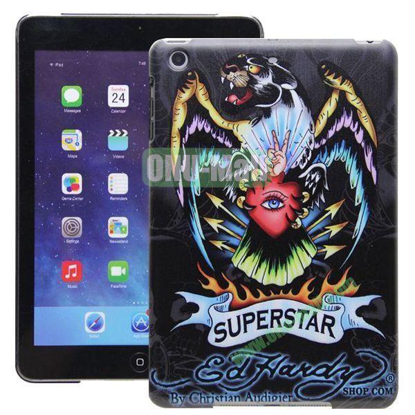 High Quality Cartoon Pattern Super Star Design Hard Plastic Case for iPad Mini Retina iPad Mini 2  iPad Mini 3