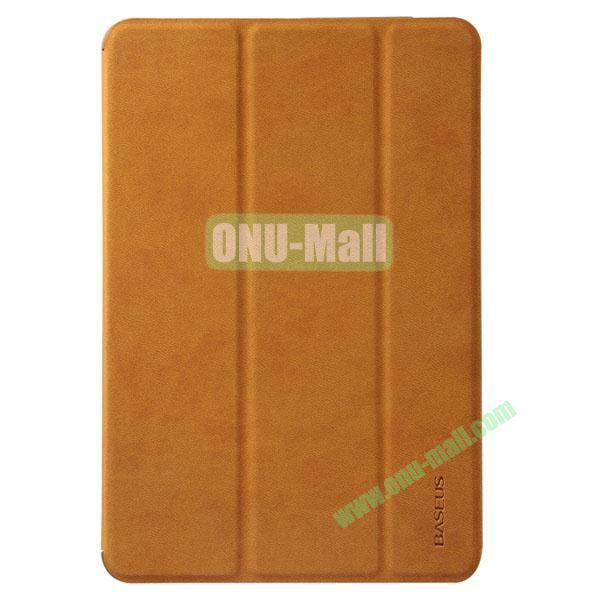 BASEUS Simplism Series Tri-fold Stand Smart Leather Case for iPad mini 2  iPad mini  iPad Mini 3 (Yellow)