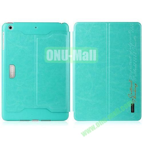 Usams Merry Series 2 Folio Fashion Leather Case for iPad Air (Blue)