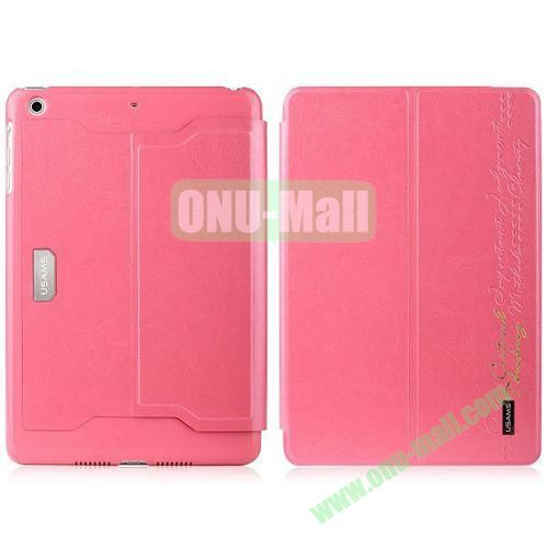 Usams Merry Series 2 Folio Fashion Leather Case for iPad Air (Pink)