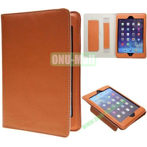 Ultrathin Retro Cross Texture Leather Smart Cover for iPad Mini Retina  iPad Mini 3 (Orange)