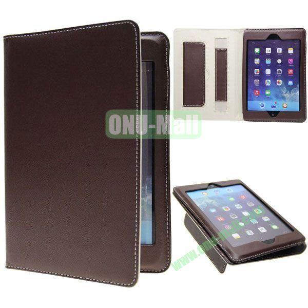 Ultrathin Retro Cross Texture Leather Smart Cover for iPad Mini Retina  iPad Mini 3 (Brown)