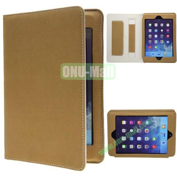 Retro Ultrathin Leather Smart Cover for iPad Air with Armband (Yellow)