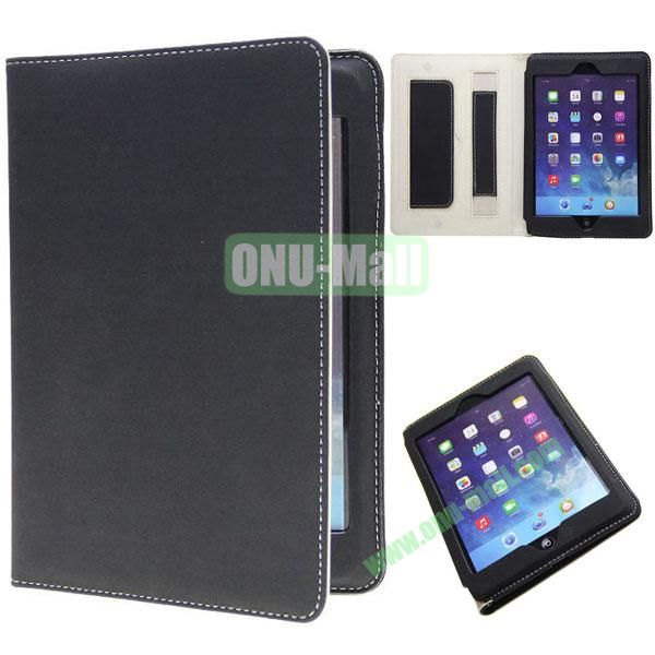 Retro Ultrathin Leather Smart Cover for iPad Air with Armband (Black)