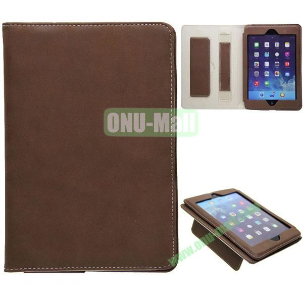 Retro Ultrathin Leather Smart Cover for iPad Air with Armband (Brown)