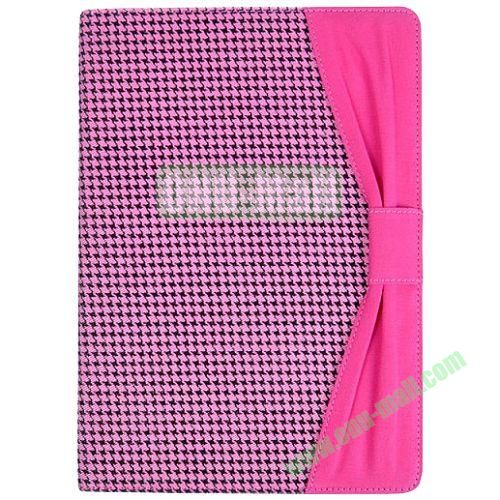 Curtain Design Swallow Gird Smart Cover for iPad Air with Stand (Purple)