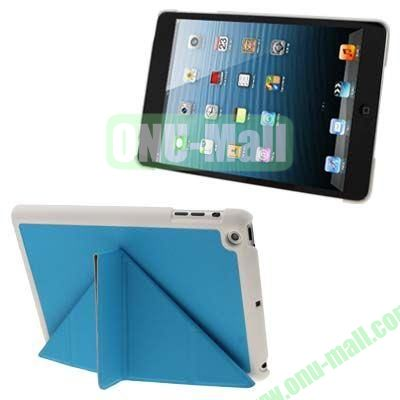 BELK Italian Style 3-fold Cross Texture Smart Cover for iPad mini  mini 2 Retina with Stand (Blue)