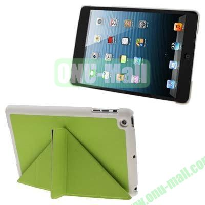 BELK Italian Style 3-fold Cross Texture Smart Cover for iPad mini  mini 2 Retina with Stand (Green)