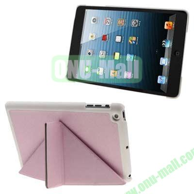 BELK Italian Style 3-fold Cross Texture Smart Cover for iPad mini  mini 2 Retina with Stand (Pink)