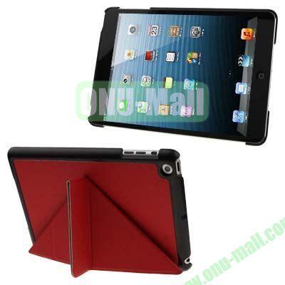 BELK Italian Style 3-fold Cross Texture Smart Cover for iPad mini  mini 2 Retina with Stand (Red)