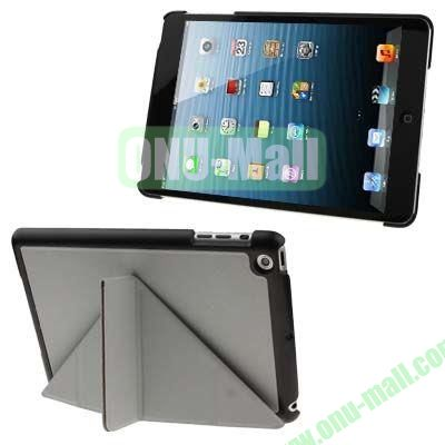 BELK Italian Style 3-fold Cross Texture Smart Cover for iPad mini  mini 2 Retina with Stand (Grey)