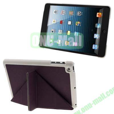 BELK Italian Style 3-fold Cross Texture Smart Cover for iPad mini  mini 2 Retina with Stand (Purple)