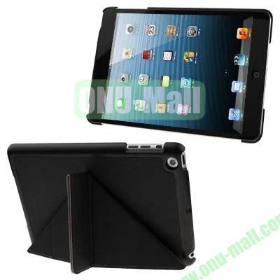 BELK Italian Style 3-fold Cross Texture Smart Cover for iPad mini  mini 2 Retina with Stand (Black)
