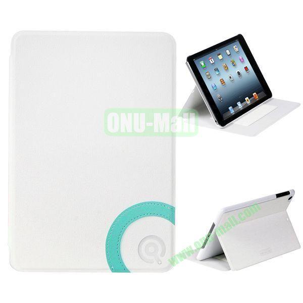 Fashion Flip Stand Wallet Leather + PC Case for iPad Mini Retina  iPad Mini 3 (White)