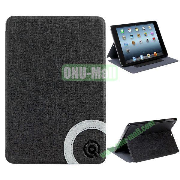 Fashion Flip Stand Wallet Leather + PC Case for iPad Mini Retina  iPad Mini 3 (Black)