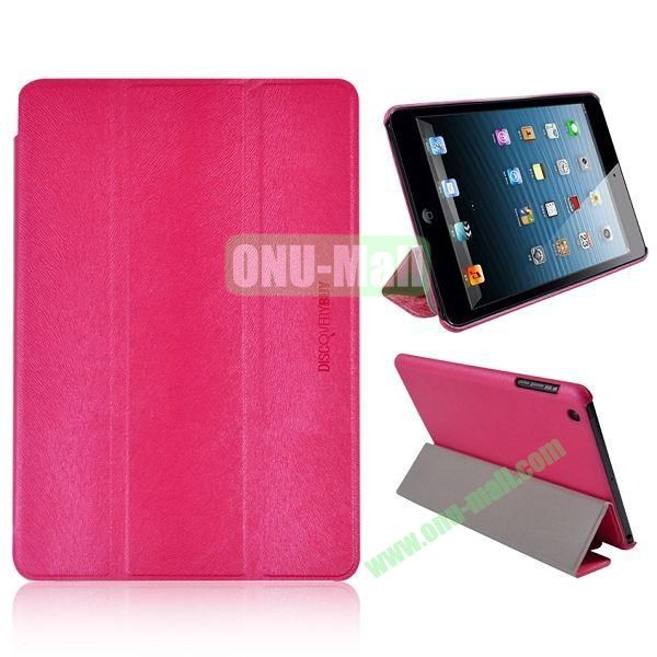 3-folding Stand Squirrel Texture Leather Cases for iPad Mini Retina  iPad Mini 3 (Beige)