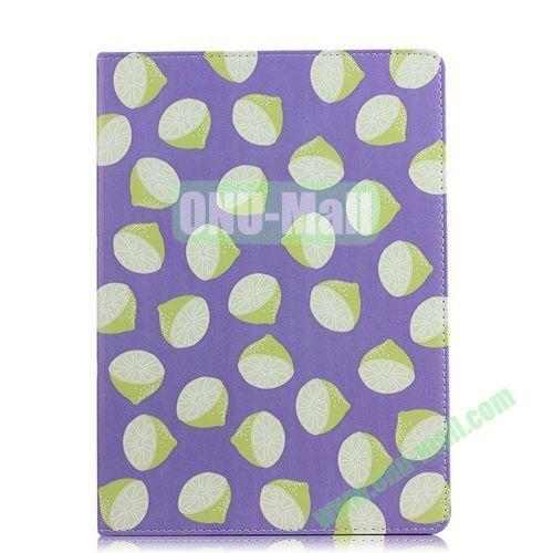 Fruit Pattern Flip Stand PC+ Leather Case for iPad Mini Retina  iPad Mini 3 (Purple)