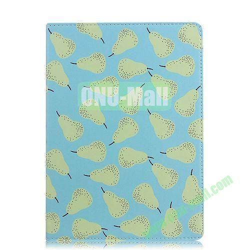 Fruit Pattern Flip Stand PC+ Leather Case for iPad Mini Retina  iPad Mini 3 (Blue)