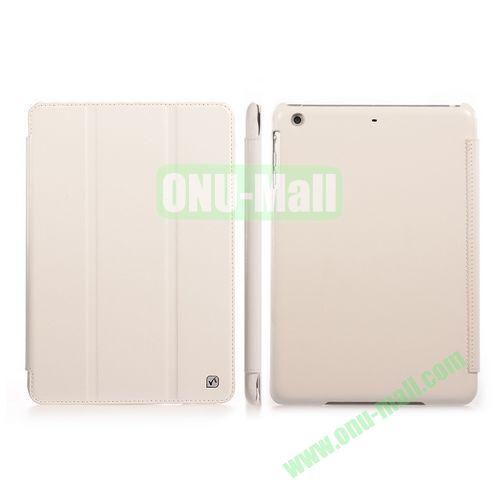 HOCO Crystal Series Crazy Horse Texture Flip Stand Leather Case for iPad Mini Retina  iPad Mini 3 (White)