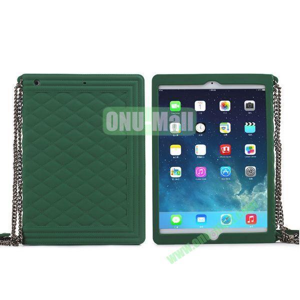 Classic Handbag Pattern Silicone Case Cover for iPad Mini iPad Mini Retina with Chain (Green)