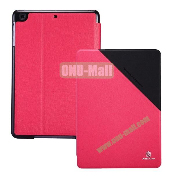 NILLKIN Keen Series Double Color Flip Stand Leather Case for iPad Mini Retina  iPad Mini 3 (Red+Black)