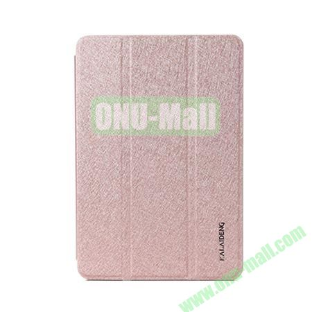 KLD Iceland Series 3-folding Sleep Wake UP Function Leather Case for iPad Mini Retina  iPad Mini 3 (Champagne Gold)