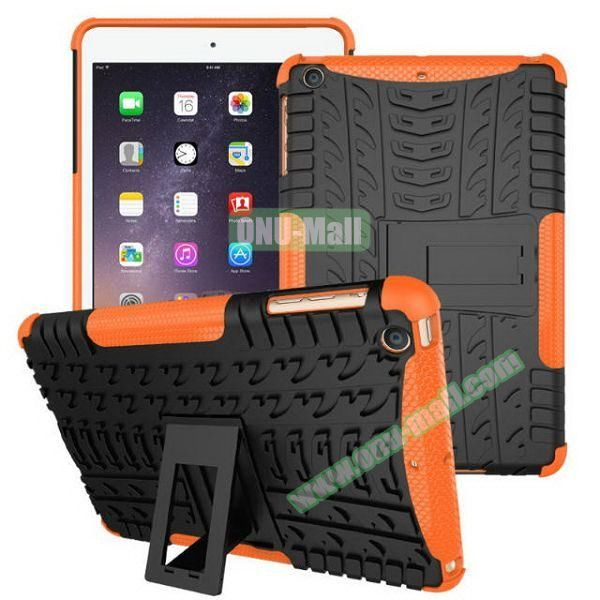2 in 1 Pattern Anti Skid Texture Silicone + PC Hybrid Case for iPad Mini 3 (Yellow)