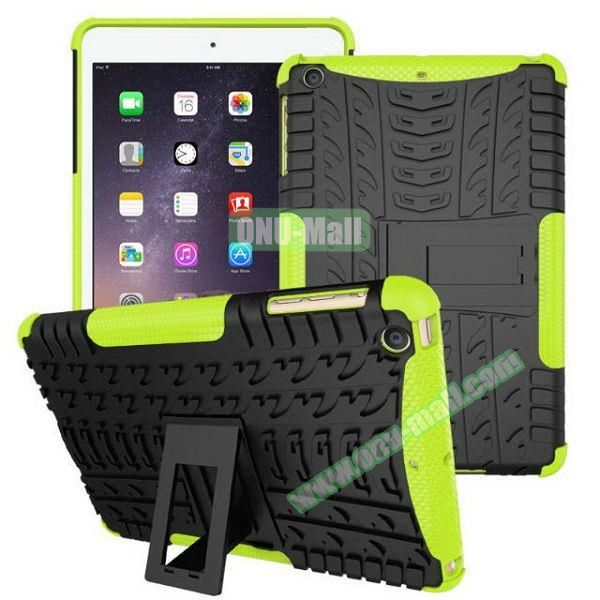 2 in 1 Pattern Anti Skid Texture Silicone + PC Hybrid Case for iPad Mini 3 (Green)