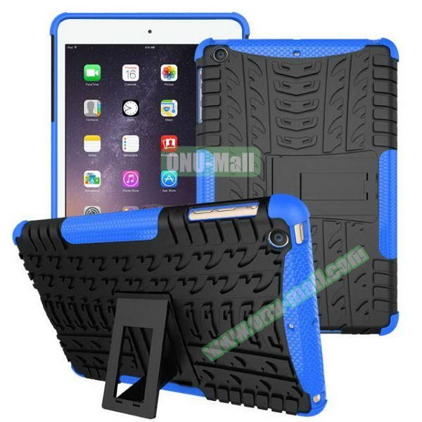 2 in 1 Pattern Anti Skid Texture Silicone + PC Hybrid Case for iPad Mini 3 (Blue)