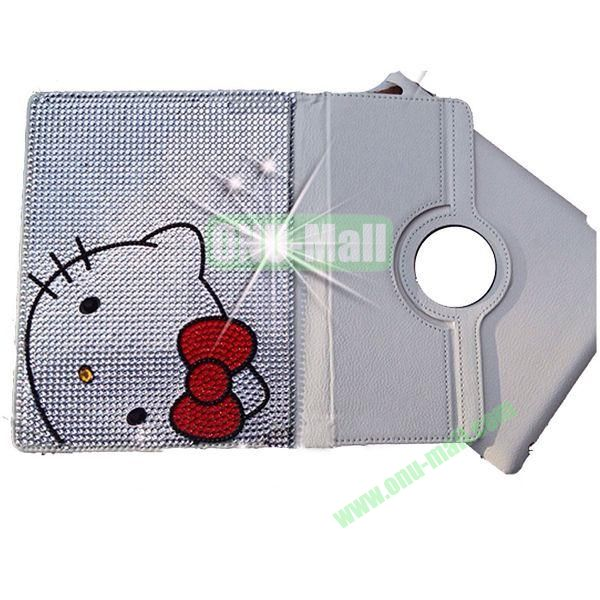 2014 Newest 360 Rotation Rhinestone Diamond Leather Case for iPad Mini iPad mini Retina