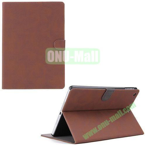 Retro book case for iPad Mini Retina  iPad Mini 3 Smart Cover (Brown)