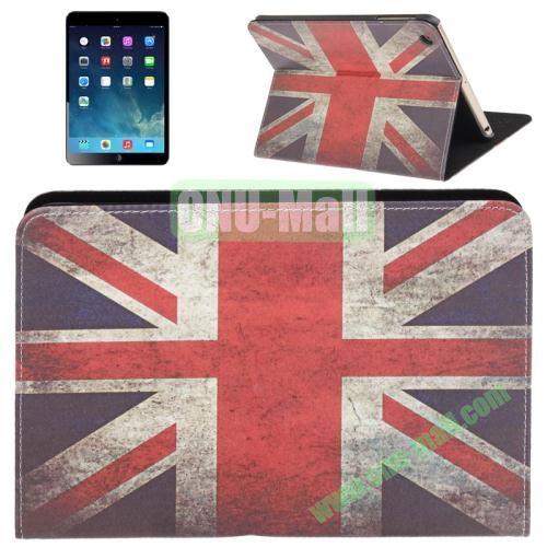 Retro Style Union Jack Pattern Leather Cover with Holder for iPad mini  mini 2 Retina