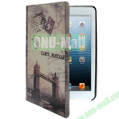 Retro Pattern Leather Cover for iPad Mini  Mini 2 Retina with Holder