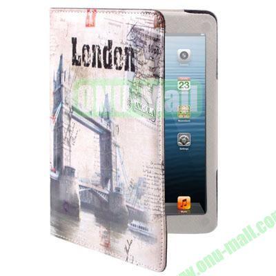 London Tower Bridge Style Leather Case for iPad Mini  Mini 2 Retina with Holder