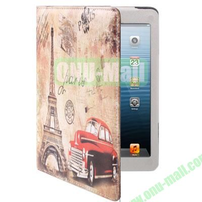 The Eiffel Tower Style Leather Case for iPad Mini  Mini 2 Retina with Holder