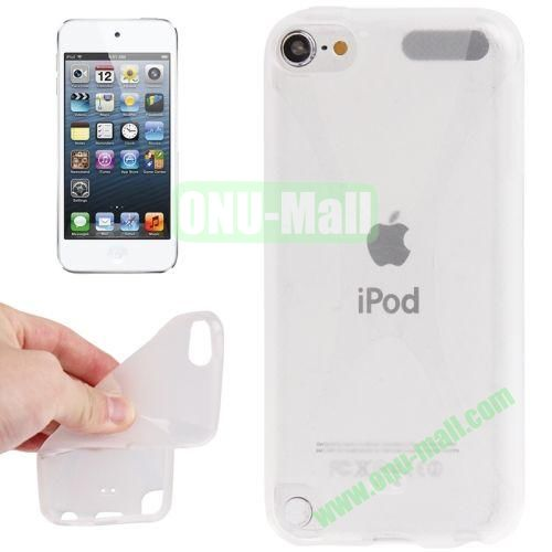 X Line Anti-skid TPU Case for iPod Touch 5 (Transparent)