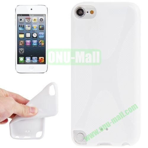 X Line Anti-skid TPU Case for iPod Touch 5 (White)