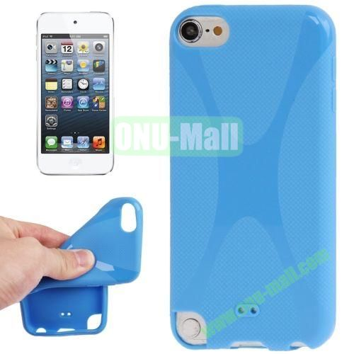 X Line Anti-skid TPU Case for iPod Touch 5 (Blue)