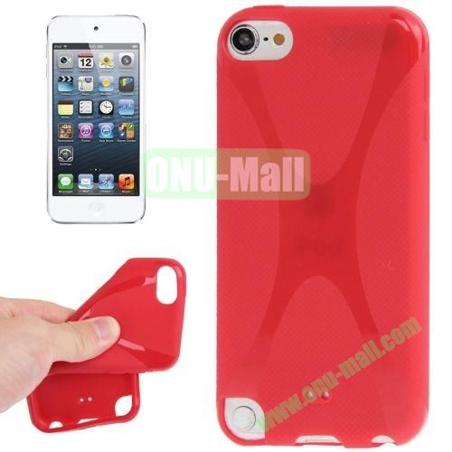X Line Anti-skid TPU Case for iPod Touch 5 (Red)