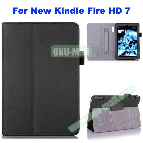 Multifunctional Flip Leather Case for New Kindle Fire HD 7 with Card Slots, Filco and Holder
